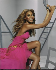 Beyonce in a magazine shoot; I think it is Vanity Fair or Elle